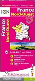 FRANCE NORD-OUEST : MAPA IGN [2020] | 9782758549062